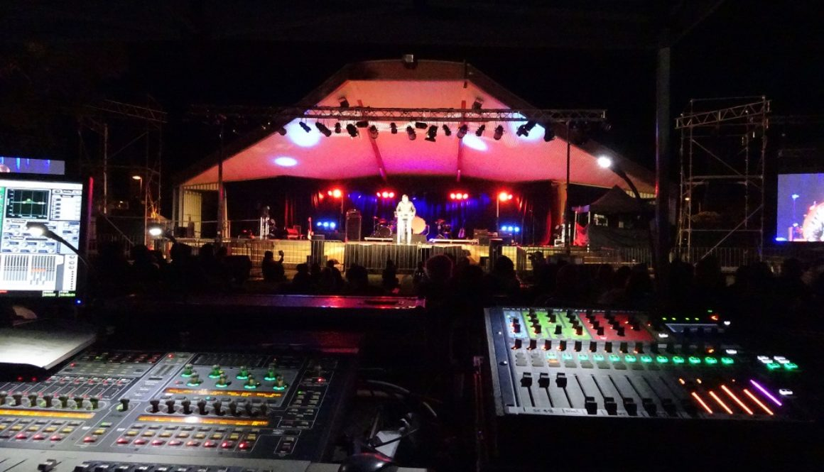 FOH to stage night shot